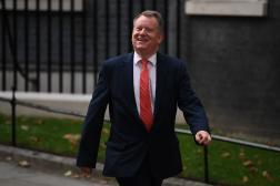 David Frost, ministre des affaires européennes britanniques, le 15 septembre à 2021, la sortie de Downing Street à Londres.