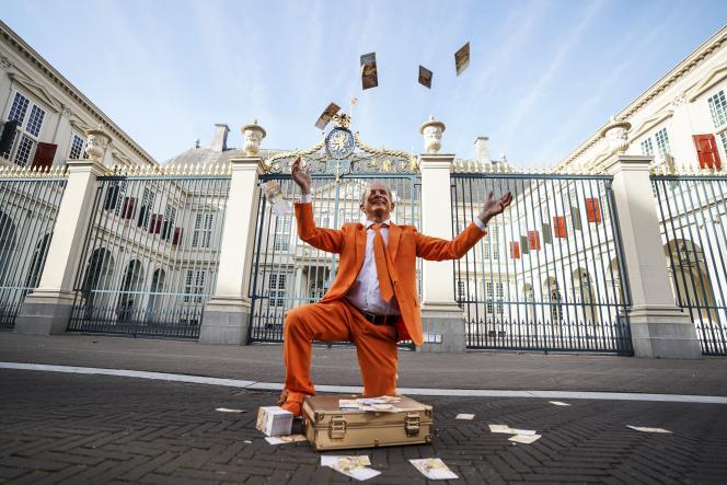 Performance à La Hague (Pays-Bas), avant le traditionnel discours annuel du roi Willem-Alexander, le 21 septembre 2021.