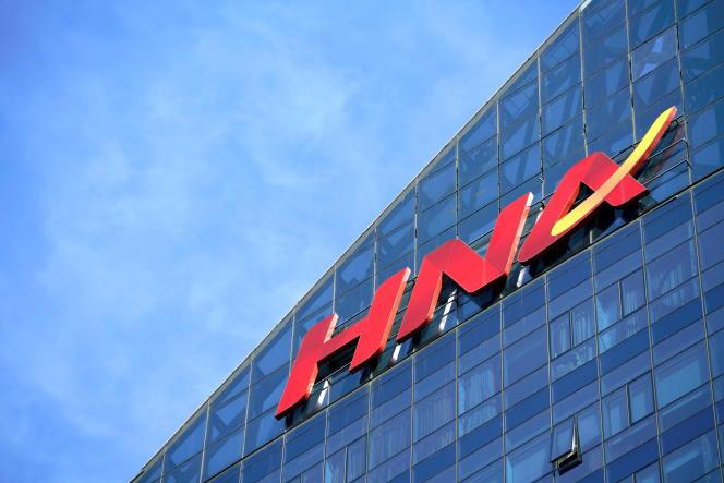 Les bureaux de HNA, à Pékin, en février 2018.