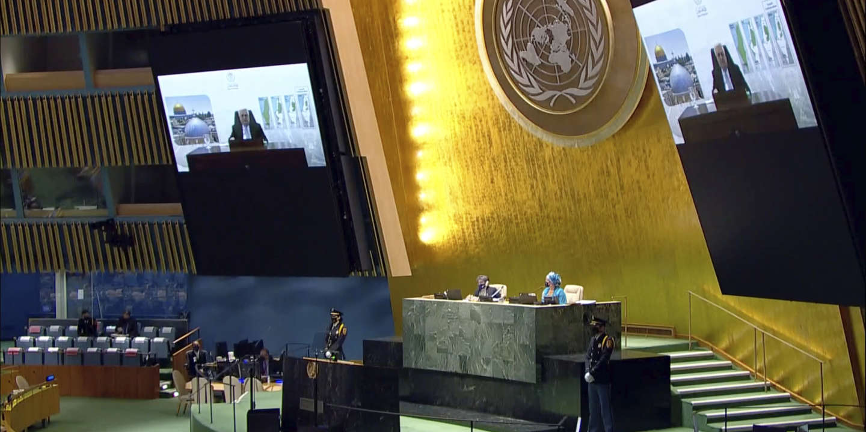 A l'ONU, Mahmoud Abbas donne « un an » à Israël pour se retirer des territoires palestiniens