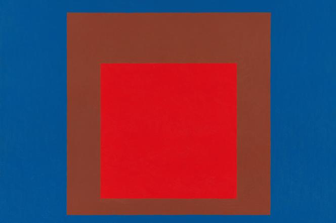 «Homage to the Square: On Near Sky» (1963), parJosef Albers, huile sur masonite, MMA New York.