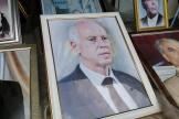 Un portrait du président tunisien, Kaïs Saïed, dans un magasin de photographie, à Tunis, le 23septembre 2021.