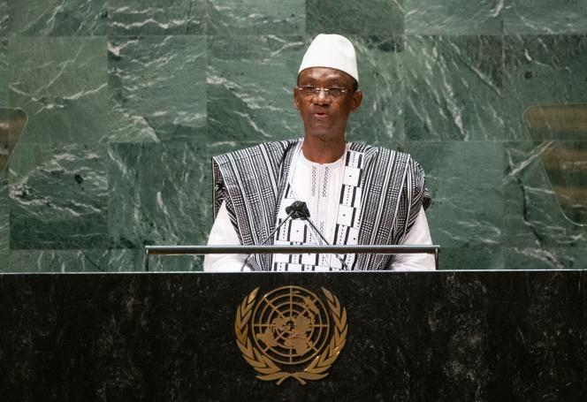 Le premier ministre malien Choguel Maiga aux Nations unies, le 25 septembre 2021, à New York.