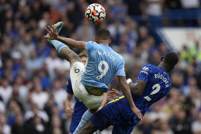 Manchester City etGabriel Jesus ont pris le dessus sur Chelsea etAntonio Rudiger ce samedi àStamford Bridge, à Londres.
