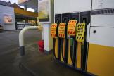 Une station d'essence à Liverpool, en Angleterre, le 23 septembre 2021.