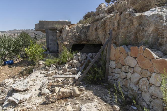 A Beit Anan, le 26 septembre 2021, au lendemain de l'opération israélienne lors de laquelle cinq Palestiniens ont été tués.