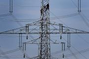 Lignes électriques à haute tension, en Allemagne, en 2011.