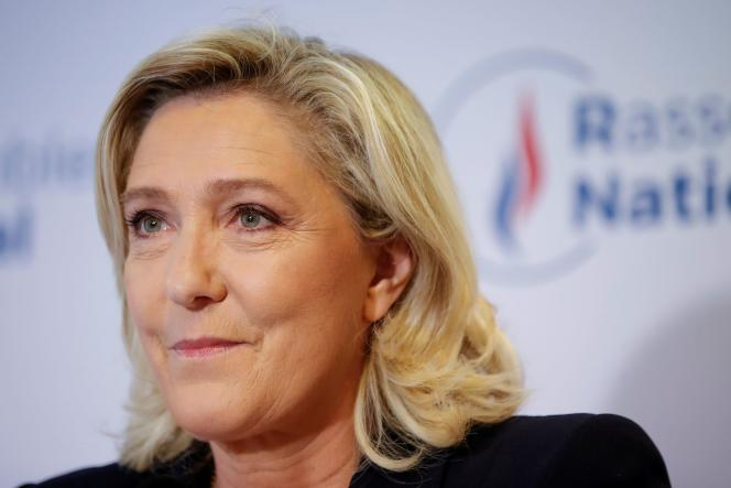 The RN presidential candidate, Marine Le Pen, in Nanterre, June 27, 2021.