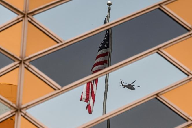 L'ambassade des Etats-Unis avant le retrait américain d'Afghanistan, à Kaboul, le 30juillet 2021.