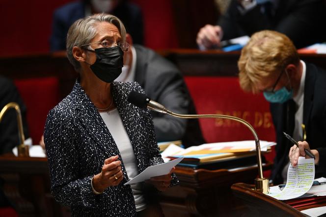 La ministre du travail, Elisabeth Borne, à l'Assemblée nationale, à Paris, le 21septembre 2021.