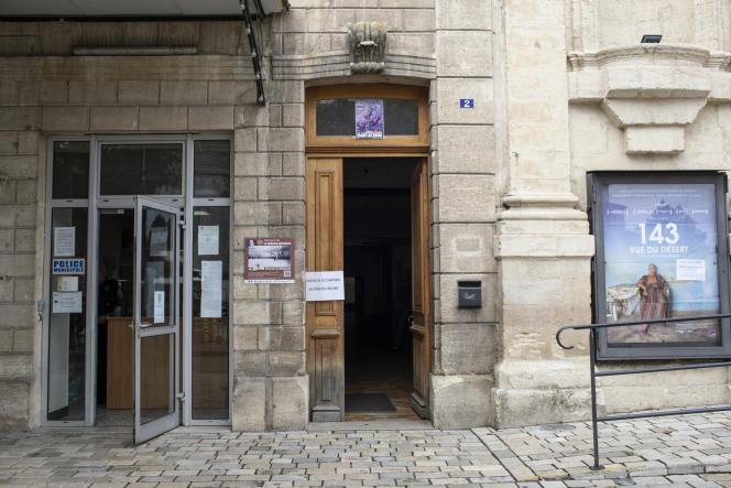Entrée du centre de vaccination de Forcalquier (Alpes-de-Haute-Provence), le 16septembre2021.