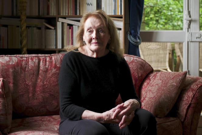 Annie Ernaux, àCergy-Pontoise (Val-d'Oise), en mai 2021.
