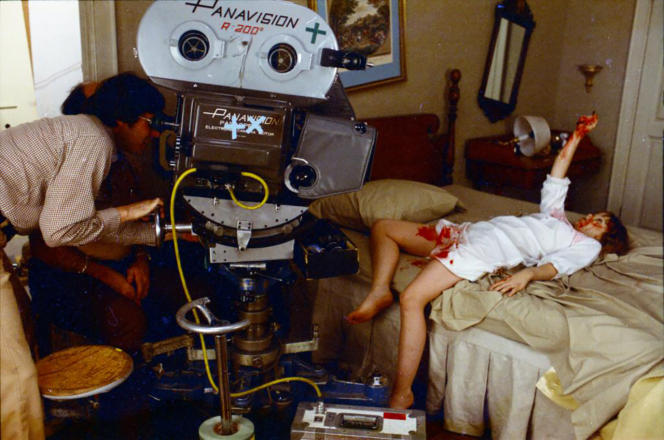 Le réalisateur William Friedkin et l'actrice Linda Blair sur le tournage de «L'Exorciste» (1973).