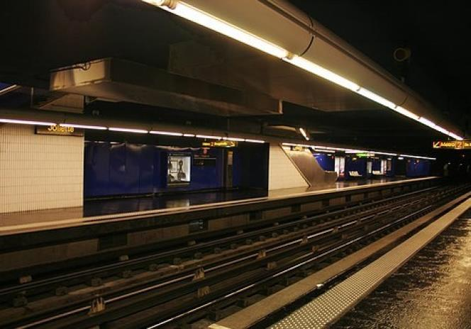 """The """"Joliette"""" station of line 2 of the Marseille metro, where a ticket check led to the death of Saïd M'Hadi."""