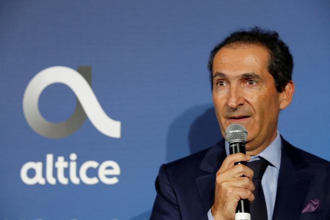 Patrick Drahi,fondateur du groupe de télécoms et de médias Altice, assiste à l'inauguration de l'Altice Campus, à Paris, le 9 octobre 2018.