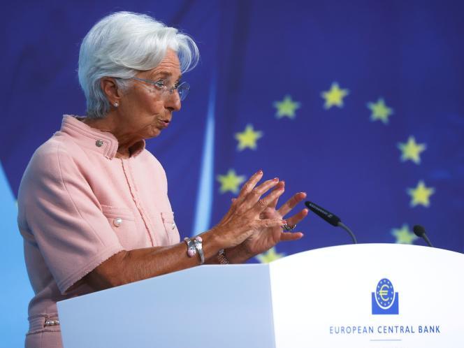 La présidente de la Banque centrale européenne (BCE), Christine Lagarde, à Francfort (Allemagne), le 9 septembre.