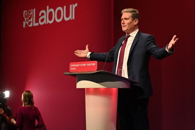 Le leader du Parti travailliste, Keir Starmer, le 29 septembre 2021 à Brighton (Royaume-Uni).