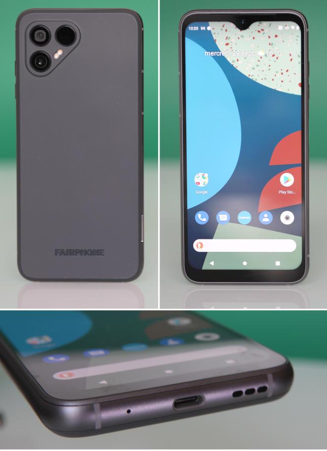 L'allure du Fairphone 4 est moderne, mais massive.