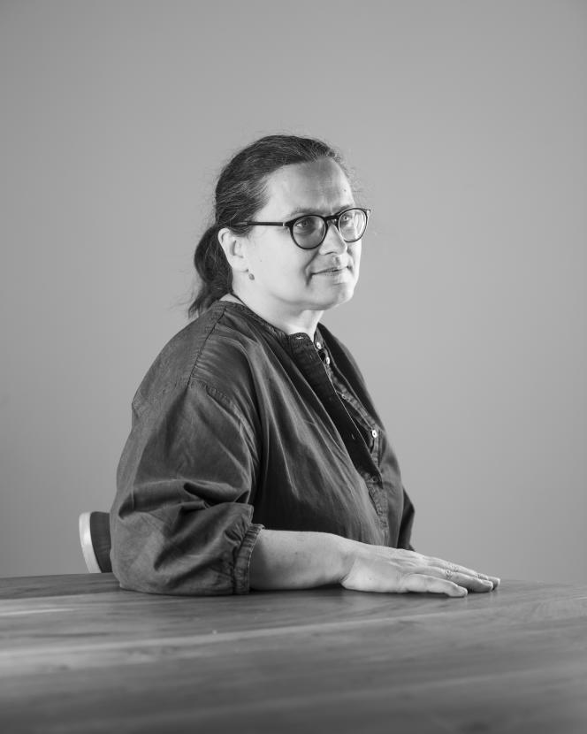 Suzanne Grimal, fondatrice de l'épicerie-restaurant Douze, à Paris, le 3septembre 2021.