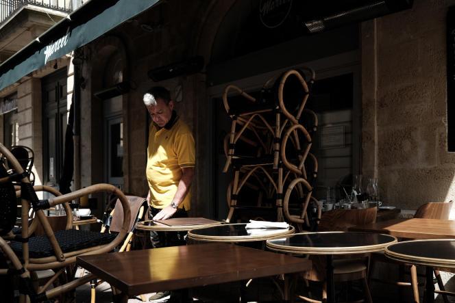 La terrasse d'un restaurant, à Bordeaux, le 9 août 2021.