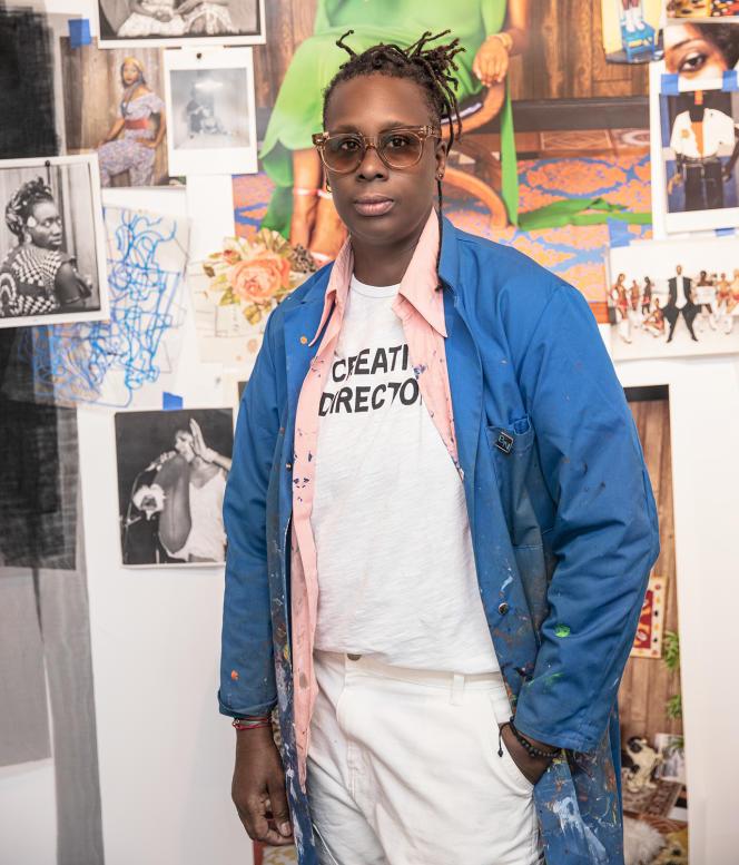 L'artiste Mickalene Thomas, à New York, en 2021.