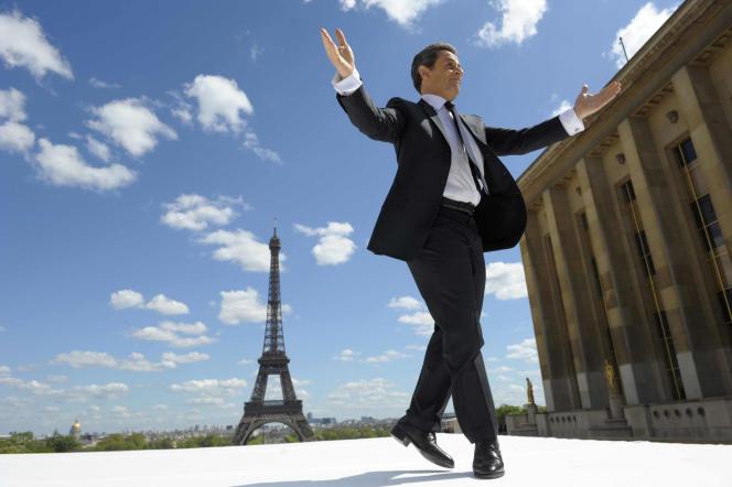 Meeting de campagne de Nicolas Sarkozy, le 1er mai 2012, à Paris.