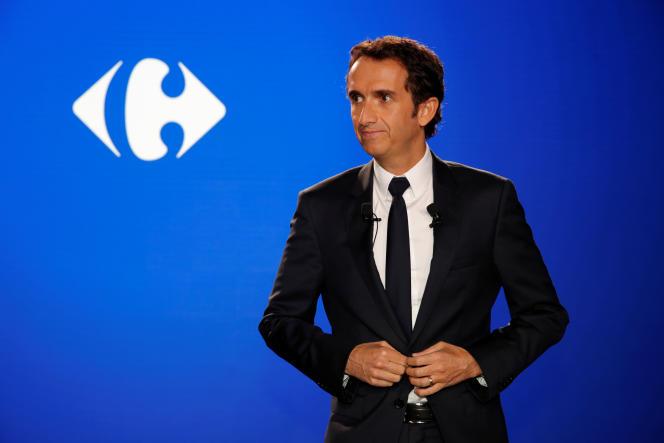 Le PDG de Carrefour, Alexandre Bompard, à LaDéfense, près de Paris, le 23 janvier 2018.