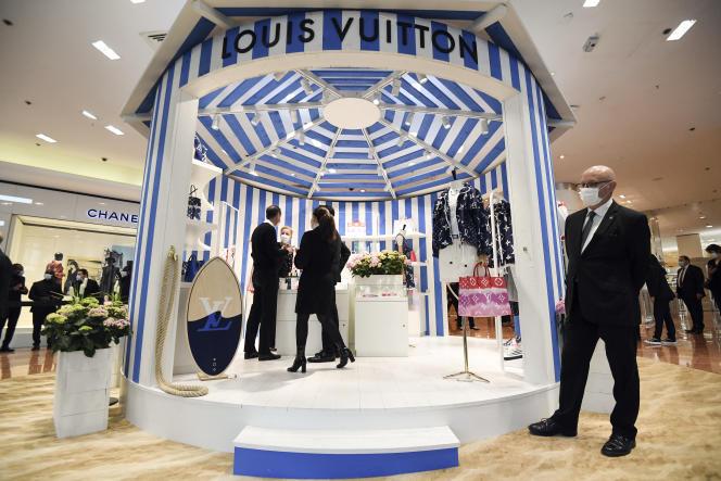 Aux Galeries Lafayette, à Paris, en mai 2020.