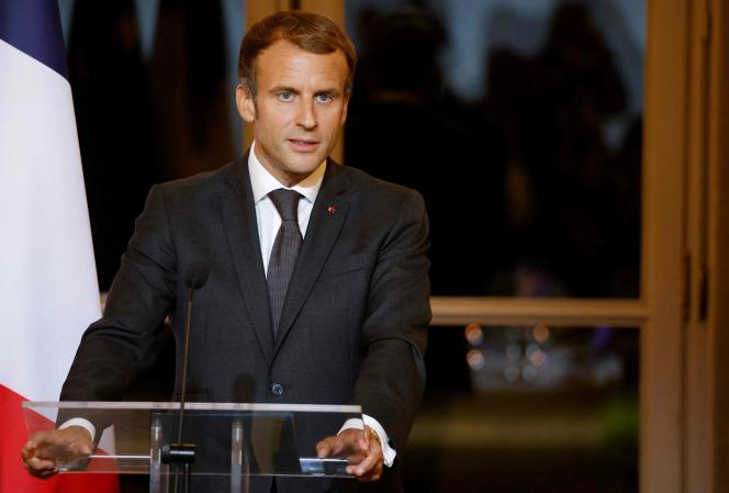Le président de la République, Emmanuel Macron, à l'Elysée, le 30 septembre.