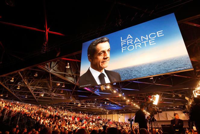 Meeting de campagne de Nicolas Sarkozy, à Marseille, le 19février 2012.