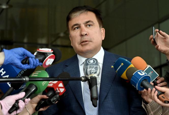 Mikheïl Saakachvili à Kiev, le 24 avril 2020.