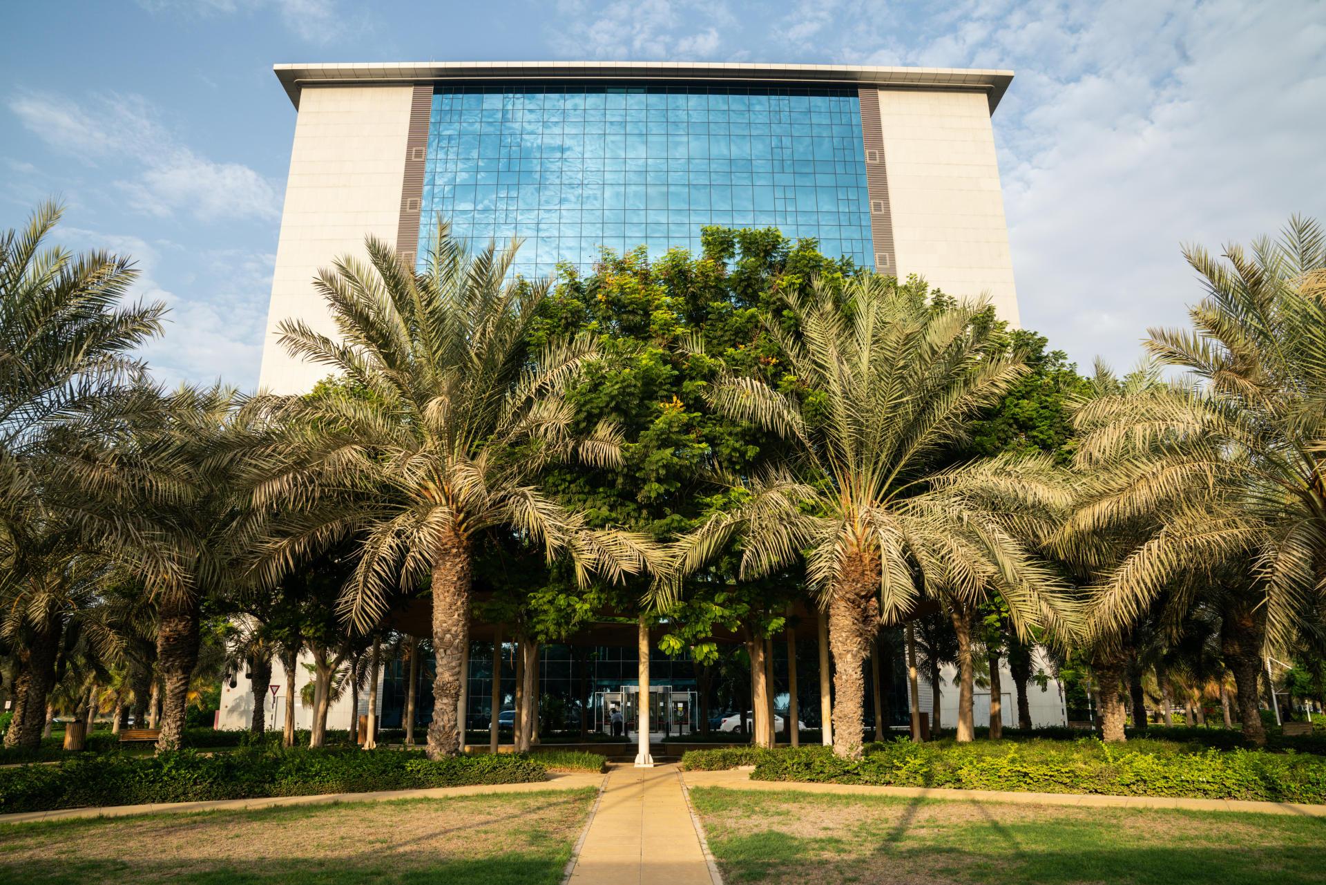 Le RAK International Corporate Centre, où sont enregistrées plus de 30 000 sociétés offshore, àRas Al-Khaïma (Emirats arabes unis), le 29 septembre 2021.
