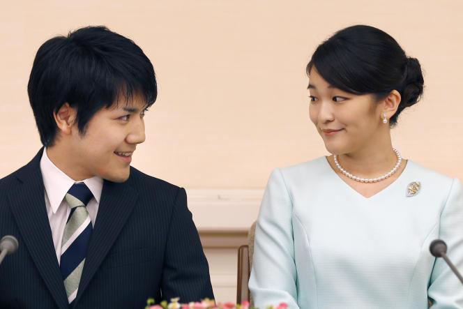 La princesse Mako et son époux Kei Komuro, le 3 septembre 2017, date à laquelle le couple n'était pas encore marié.