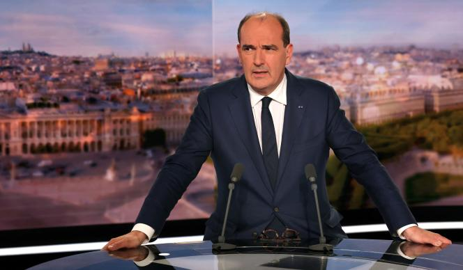 Jean Castex annonce des mesures pour aider les Français à faire face à la flambée des prix du gaz et de l'électricité, lors du JT de TF1, le 30 septembre 2021.