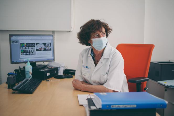 Professor Dominique Salmon-Céron in consultation with a patient with long Covid, at Hôtel-Dieu hospital (Paris), September 6, 2021.