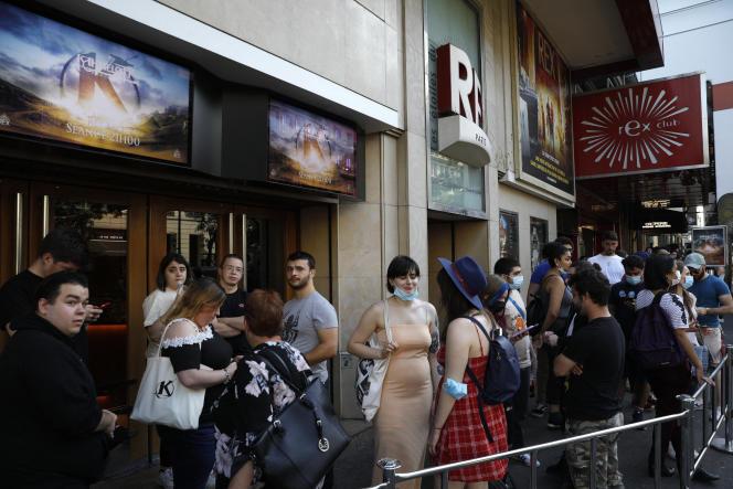 Lors de la première de «Kaamelott», au cinéma Grand Rex, à Paris, le 20 juillet 2021.