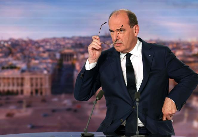 Le premier ministre, Jean Castex, interrogé lors du 20 heures de TF1, le 30septembre2021.