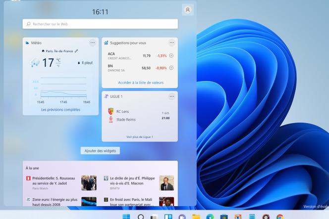 Fini les widgets qui flottent un par un à différents endroit de l'écran. Désormais, les widgets sont tous regroupés dans un volet que l'on peut faire apparaître à gauche de l'écran.