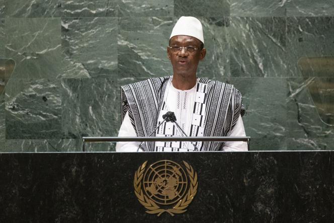 Le premier ministre de transition malien Choguel Kokalla Maïga aux Nations unies, le 25 septembre 2021, à New York.