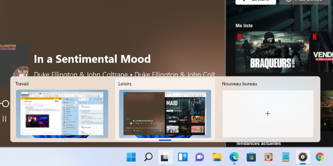 Le double bureau de Windows 11 s'avère nettement plus pratique que celui de Windows 10.