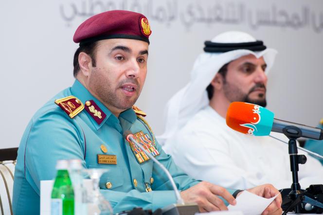 Le général Ahmed Nasser Al-Raisi, candidat des Emirats arabes unis à la présidence d'Interpol, en 2018.