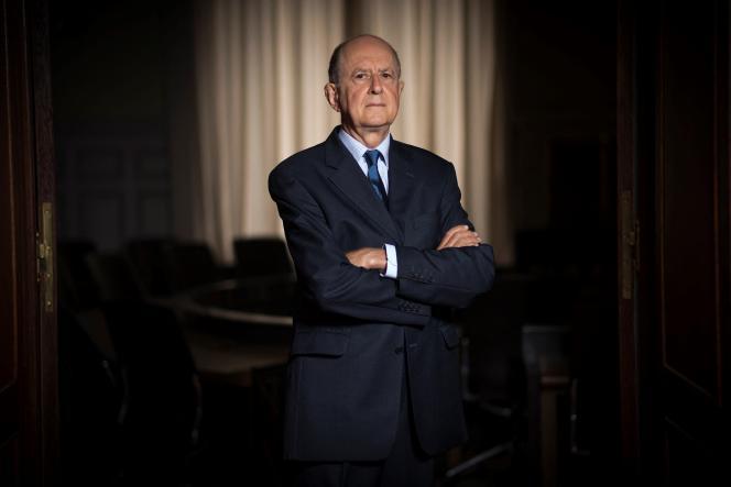 Jean-Marc Sauvé, vice-président du Conseil d'Etat et président de lacommission indépendante sur les abus sexuels dans l'Eglise (Ciase), à Paris, le 4 septembre 2017.