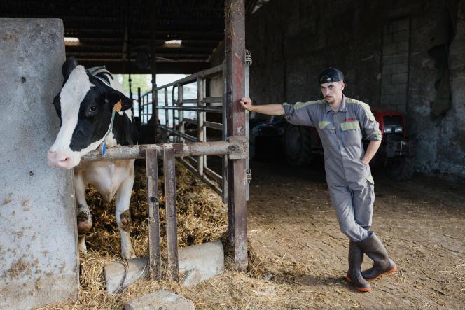 Maxime Toulet, 19 ans, en 2e année BTS au lycée agricole de Pau-Montardon (Pyrénées-Atlantiques), le 23septembre 2021.