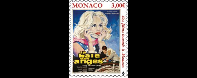 « Jeanne Moreau», vue par l'Office des émissions de timbres de Monaco, en vente à partir du 54 octobre.