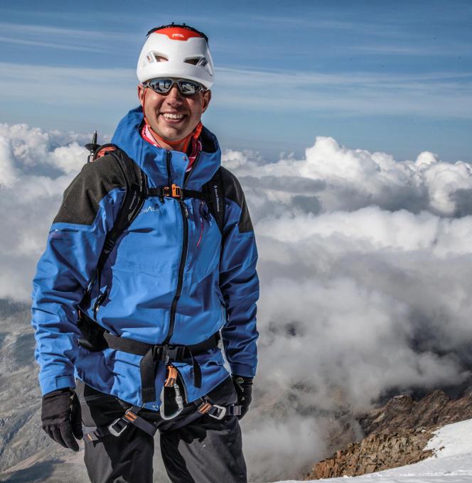 Jean des Garets, au sommet du mont Blanc, à 4807,81 mètres, le 17 septembre.