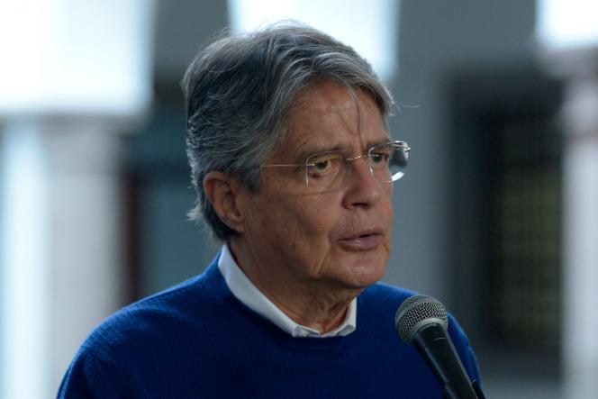 Le président équatorien Guillermo Lasso, le 4 octobre 2021, à Quito.