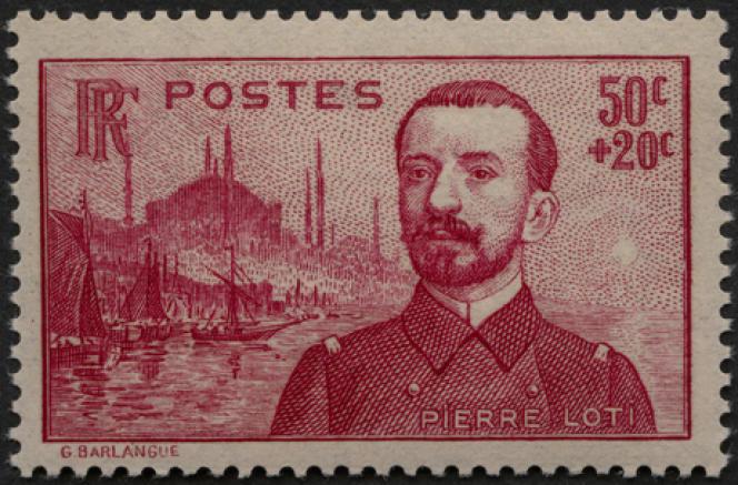 « Pierre Loti», création de Gabriel-Antoine Barlangue, date d'émission le 16 août 1937.