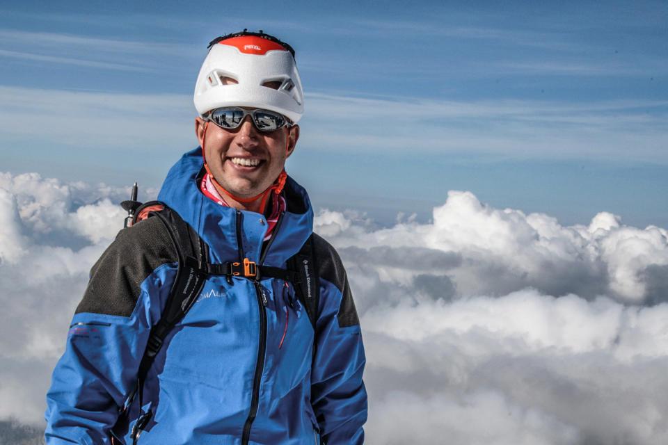 Mont Blanc, Septembre 2021. portrait de Jean des Garets, Géomètre.