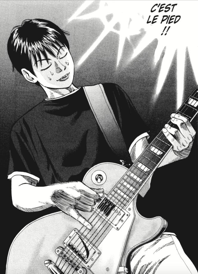 Koyuki, le personnage principal de «Beck», lors d'une de ses premières répétitions avec Mongolian Chop Squad.