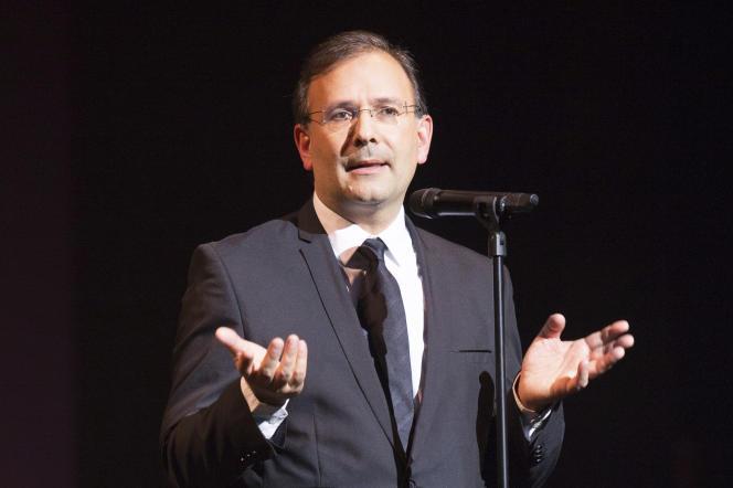 Jean-Noël Tronc, directeur général de la Sacem, le 28 novembre 2017, à Paris.
